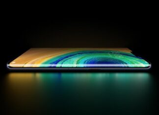 Samsung smartphone con display a cascata