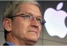 Riduzione salario in busta paga Tim Cook di Apple
