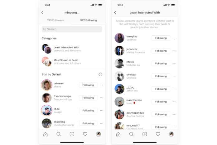 Aggiornamento Instagram due nuove categorie