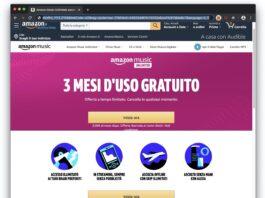 Amazon Music Unlimited 3 mesi gratuiti