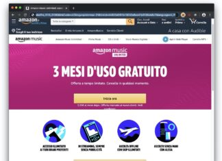 Amazon Music Unlimited 3 mesi gratuiti