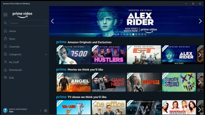 Amazon Prime Video su Windows Store