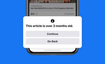 Facebook notifica news vecchie