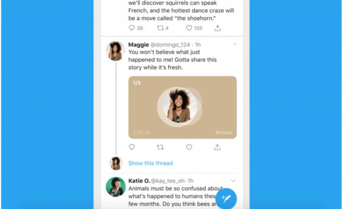 Messaggi vocali su Twitter con i Tweet su iOS