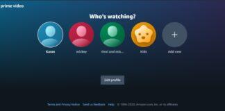 Amazon Prime Video profili personalizzati