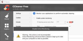 CCleaner pericoloso Windows 10