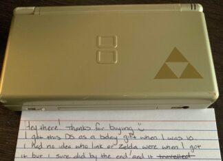 Nintendo DS usato lettera ex proprietaria