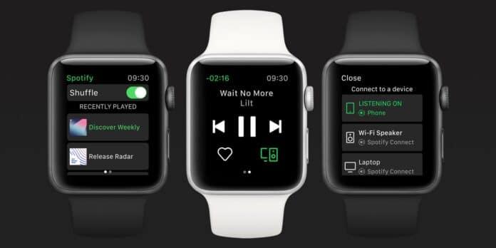 Spotify su Apple Watch offline e streaming