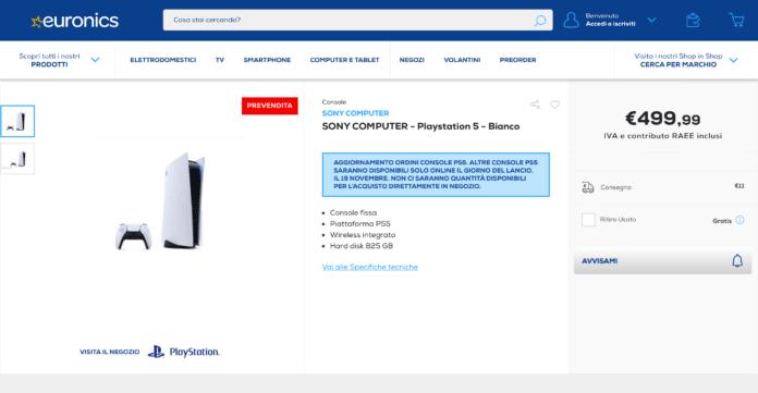 PlayStation 5 Euronics online