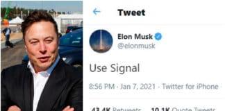 Elon Musk suggerisce Signal