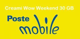 PosteMobile Creami Wow Weekend