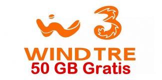 WindTre 50 giga gratis